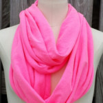 infinity scarf neon pink