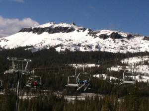 Chairlift & peak