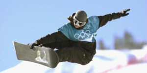 photo olympic snowboarder