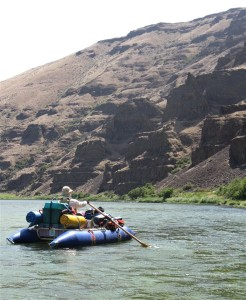 Rafting on the John Day River in central Oregon
