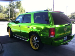 SUV decked out in Duck colors